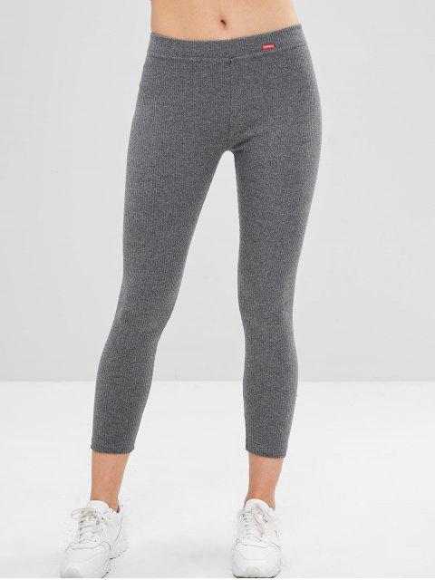 Pantalones pitillo a media cintura - Gris Oscuro Talla única Mobile