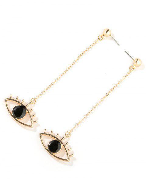 women Single Eye Pattern Drop Earrings - GOLD  Mobile