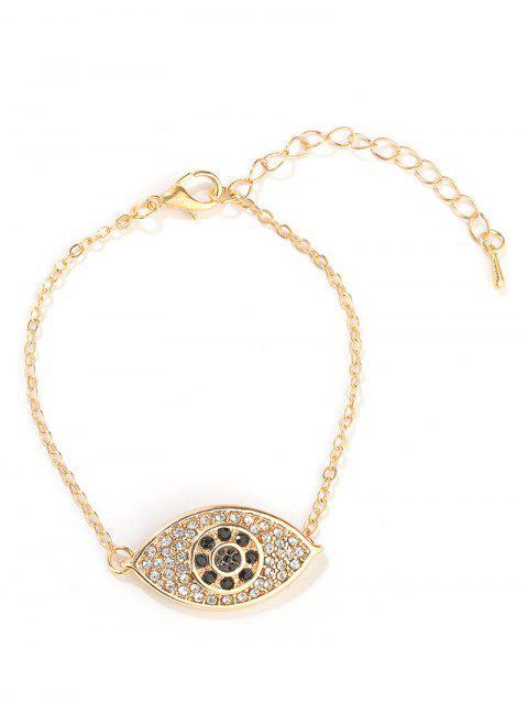 shops Eye Design Rhinestone Bracelet - GOLD  Mobile