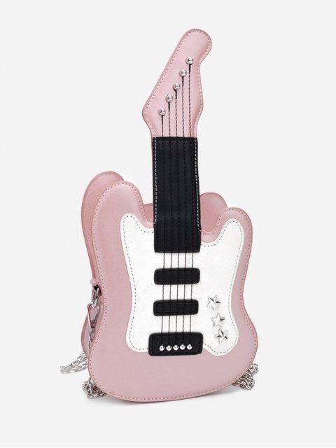 affordable Guitar Shape Mini Crossbody Bag - PINK  Mobile