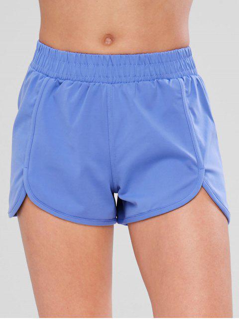 shop Tulip Workout Shorts - BLUE M Mobile