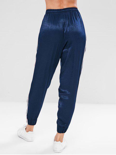 online Sport Contrast Side Jogger Sweatpants - MIDNIGHT BLUE L Mobile