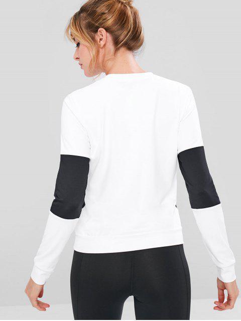 Sudadera de entrenamiento color block - Blanco L Mobile
