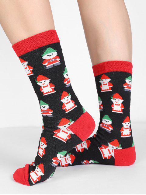 lady Christmas Snowman Crew Socks - MULTI  Mobile