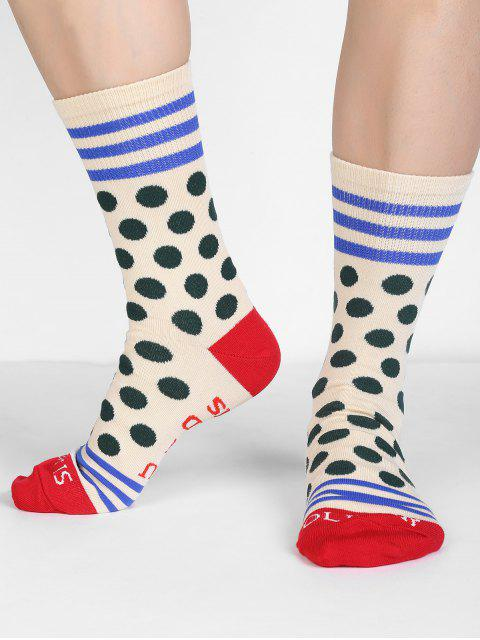 women Fun Printed Polka Dot Winter Socks - BEIGE  Mobile