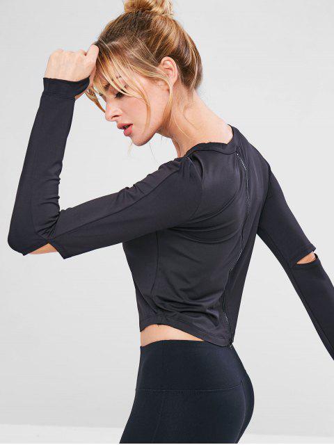 T-shirt de Sport Extensible Evidé Zippé - Noir M Mobile