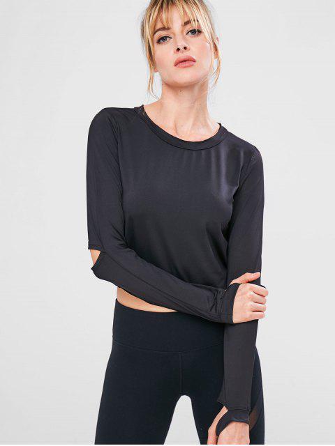 T-shirt de Sport Extensible Evidé Zippé - Noir S Mobile