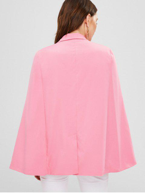 ladies ZAFUL Shawl Collar Plain Cape Coat - LIGHT PINK M Mobile