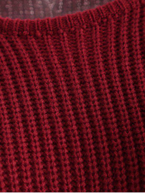 new Color Block Tricolor Oversized Sweater - BLACK S Mobile