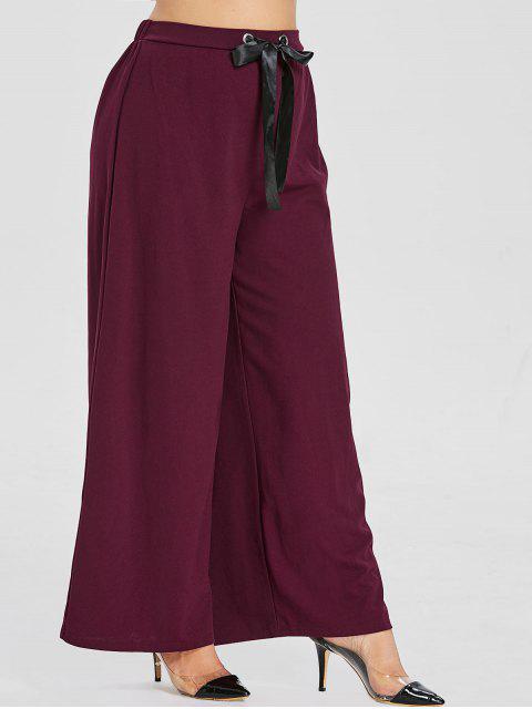 ZAFUL Pantalon à Jambe Large de Grande Taille - Marron 1X Mobile