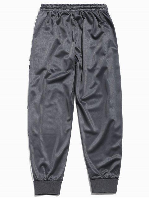 women's Panel Letter Pattern Jogger Pants - ASH GRAY 2XL Mobile