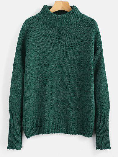 b02a4ae09a4 Plain Heathered Pullover Sweater - Medium Forest Green ...