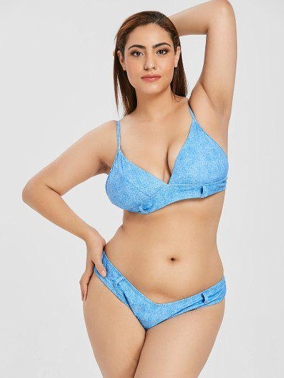0a727ad328 ZAFUL Plus Size Faux Denim Cami Bikini Set - Silk Blue 2xl ...