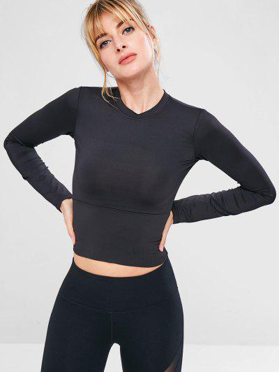 Sport Yoga Gym Slim Tee - Black M