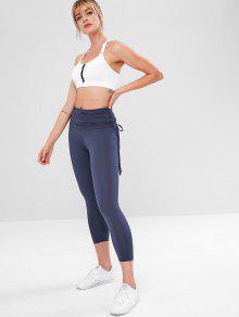02555b4e8a64f5 ... Foldover Gym Yoga Leggings. outfits Foldover Gym Yoga Leggings - DARK  SLATE BLUE L