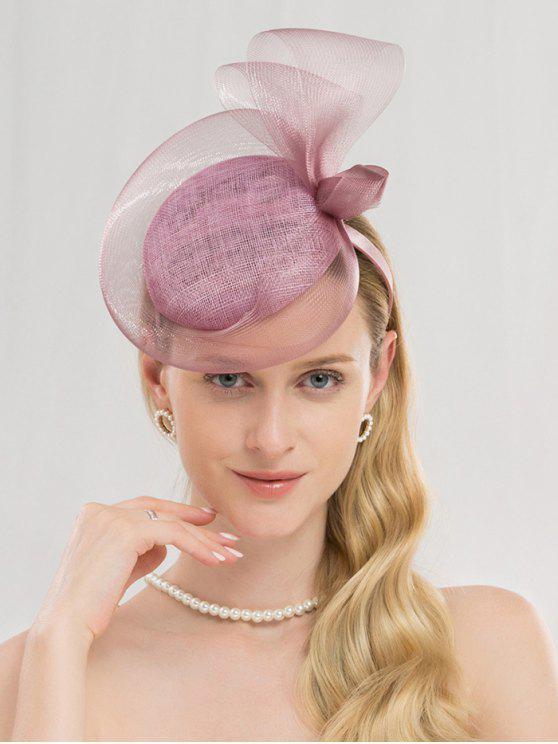 sale Elegant Solid Color Banquet Hat - MAUVE