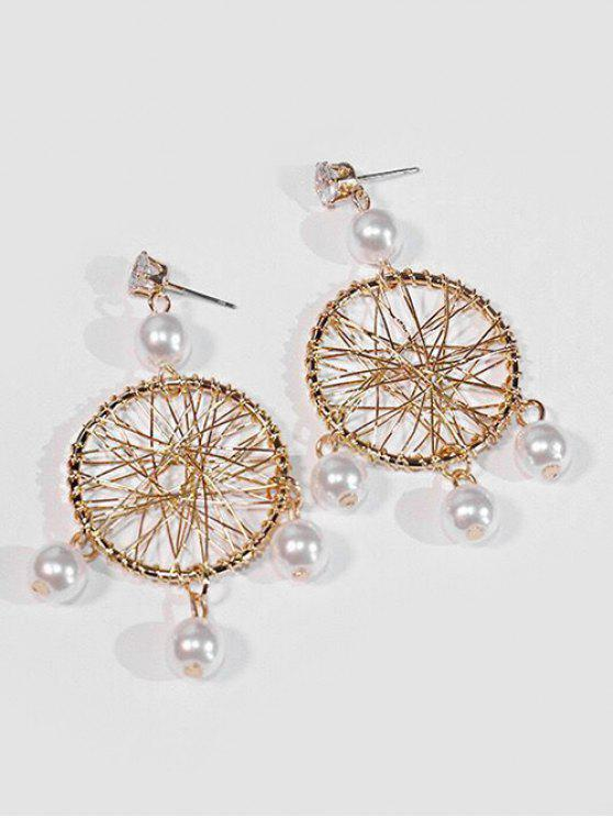 affordable Geometric Hollow Out Design Earrings - GOLD