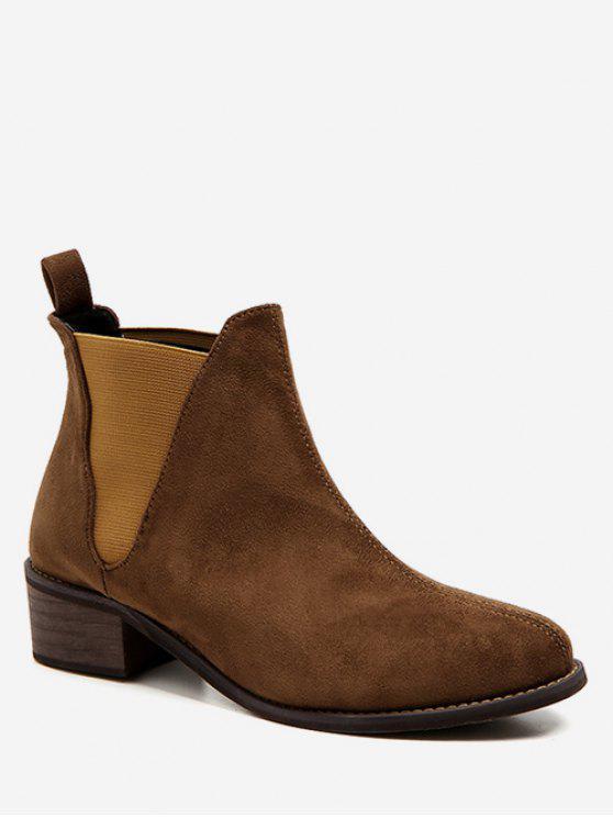 chic Low Heel Short Chelsea Boots - LIGHT BROWN EU 38