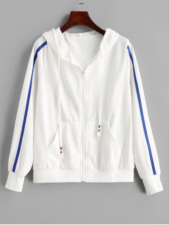 زمم جيب التباين هوديي - أبيض L