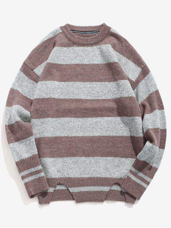 Suéter de punto de rayas informal - Calamar L