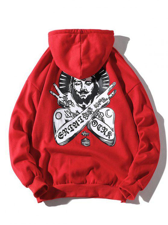 نمط فرعون القديمة الكنغر جيب هوديي - الحمم الحمراء S