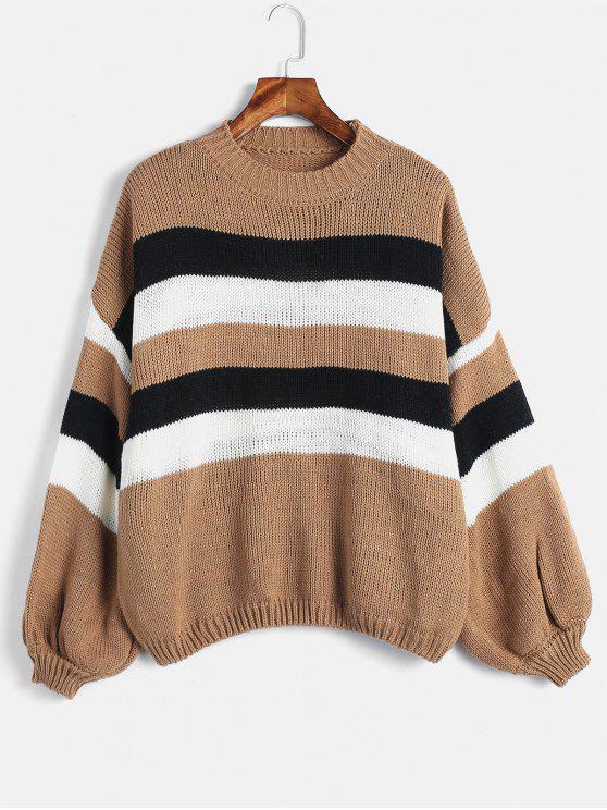 Свободный свитер с капюшоном - Многоцветный Один размер