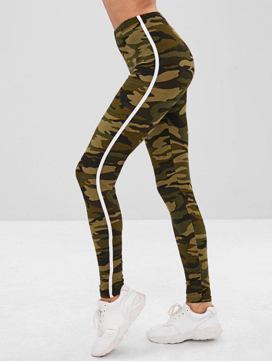 Camoflage Skinny Leggings - Verde de Camuflagem Um Tamanho