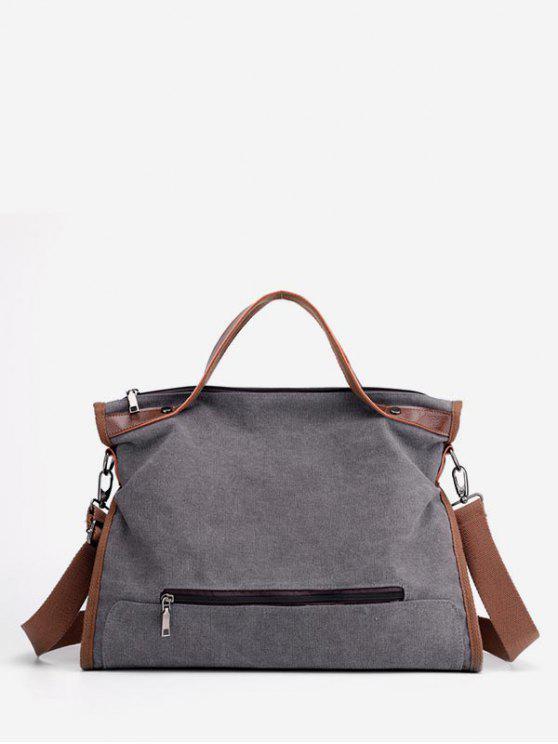 unique Large Capacity Solid Color Tote Bag - GRAY
