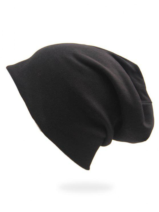 30% OFF  2019 Solid Color Casual Slouchy Beanie In BLACK  b485d68faa9
