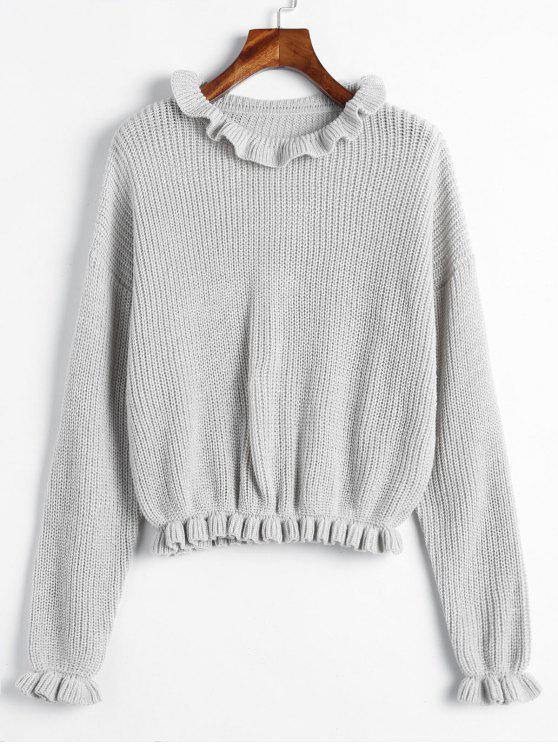 ZAFUL Frilled Drop Sweater Sweater - Светло-серый M
