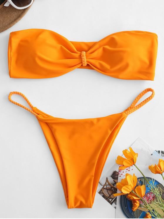 ZAFUL Geflochtener Bandeau-Bikini - Kürbis Orange L