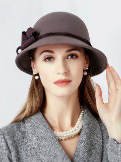 Floral Side Wool Cloche Hat - Firebrick
