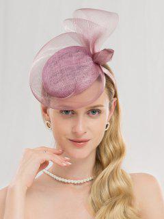 Elegant Solid Color Banquet Hat - Mauve