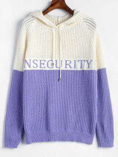 Zweifarbiger Nsecurity Graphic Sweater - Multi