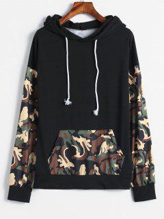 Front Pocket Camouflage Hoodie - Woodland Camouflage L