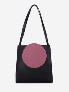 Round Pattern Large Capacity PU Shoulder Bag - Pink