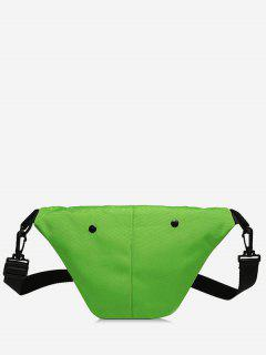 Mini Nylon Design Canvas Crossbody Bag - Green