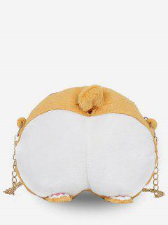 Animal Feet Artificial Fluffy Crossbody Bag - Bee Yellow
