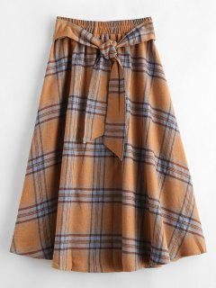 ZAFUL A Line Plaid Skirt - Multi S