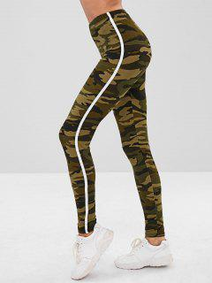 Camoflage Skinny Leggings - Camouflage Green