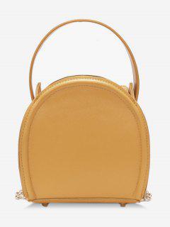 Solid Color Mini Chain Link Crossbody Bag - Bright Yellow