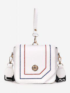 Mini Whipstitch Chic Tote Bag - White