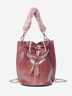 Bucket String Design Handbag - Light Pink
