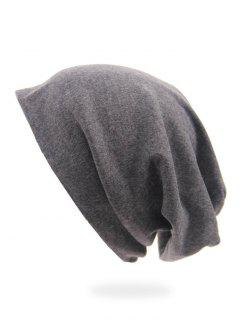 Solid Color Casual Slouchy Beanie - Gray