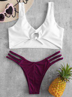 Bikini De Tanque Trenzado Con Nudo ZAFUL - Terciopelo De Ciruela S