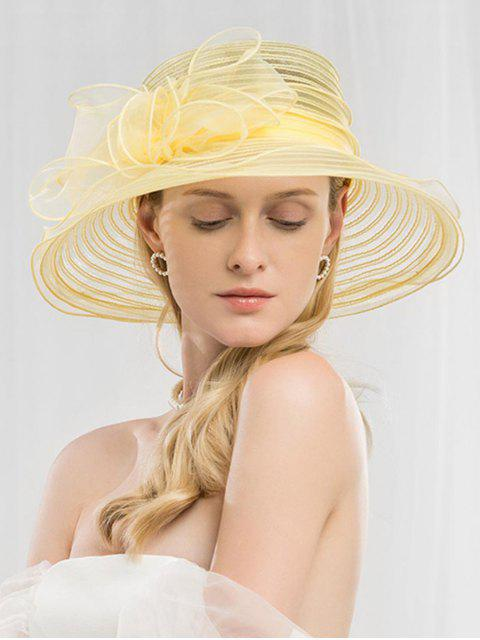 outfit Bowknot Striped Holiday Bucket Hat - YELLOW  Mobile
