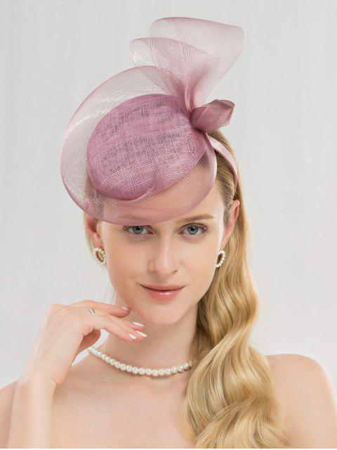 sale Elegant Solid Color Banquet Hat - MAUVE  Mobile
