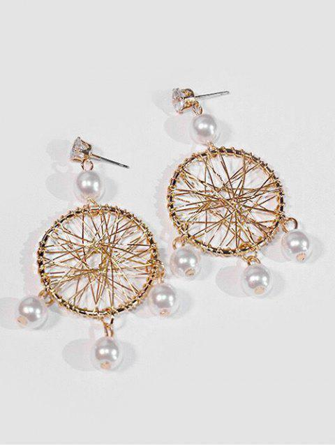 affordable Geometric Hollow Out Design Earrings - GOLD  Mobile