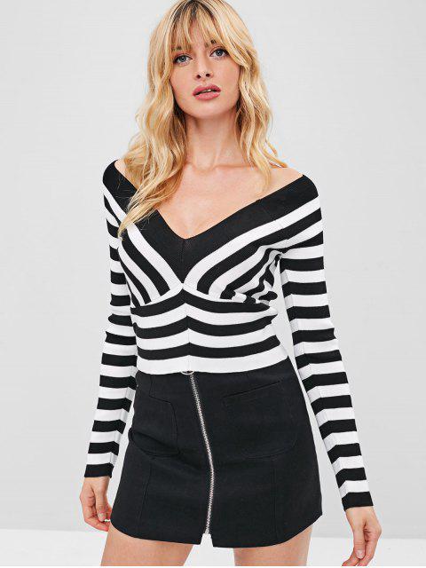 women's Two Tone Stripe Knitwear - MULTI ONE SIZE Mobile