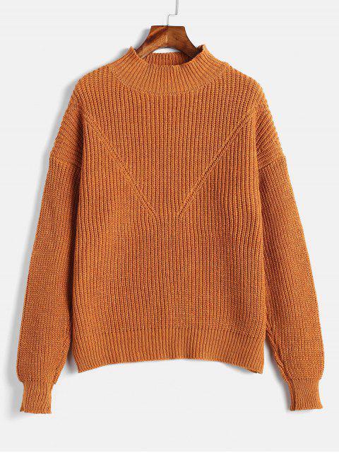 Suéter de color liso - Caramelo Talla única Mobile